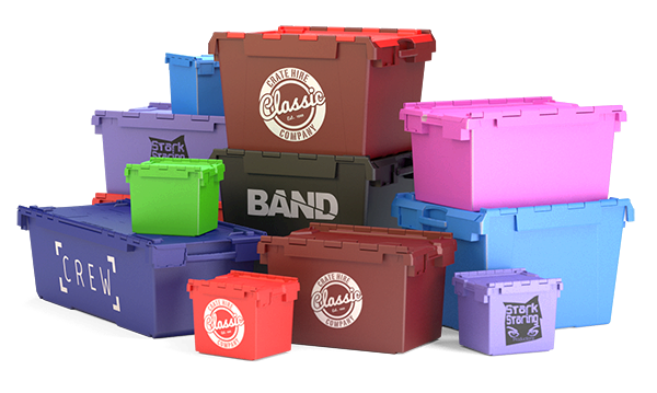 Branded Crates and personalised Various Colours