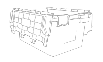 crate outline CAD design