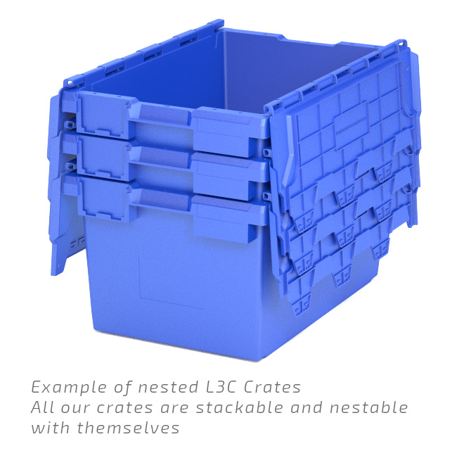 Blue L3C Crates Nested Example