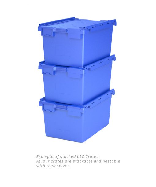 Blue L3C Crates Stacked Example