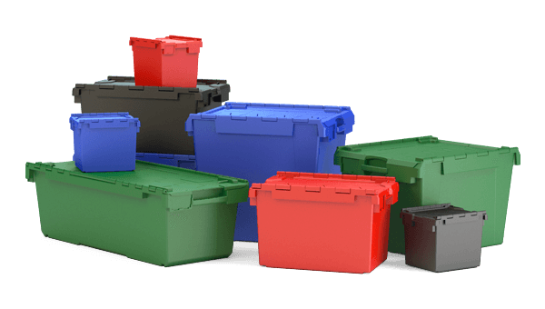 Full range of plastic containers