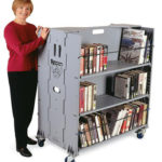 folding library trolley