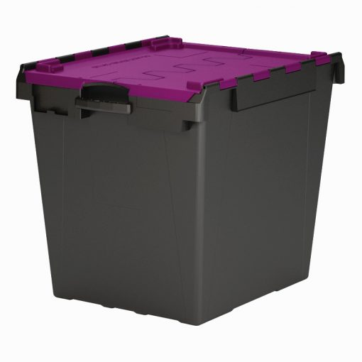IT6 Computer Crate Purple lid Black base 165L